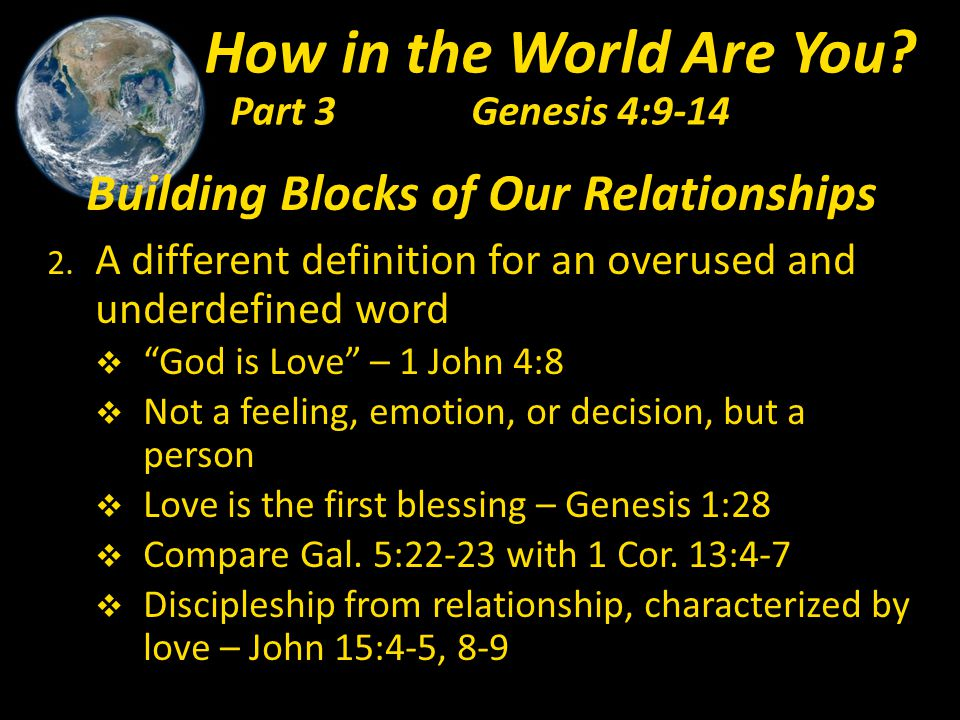 Building Blocks of Our Relationships 2.