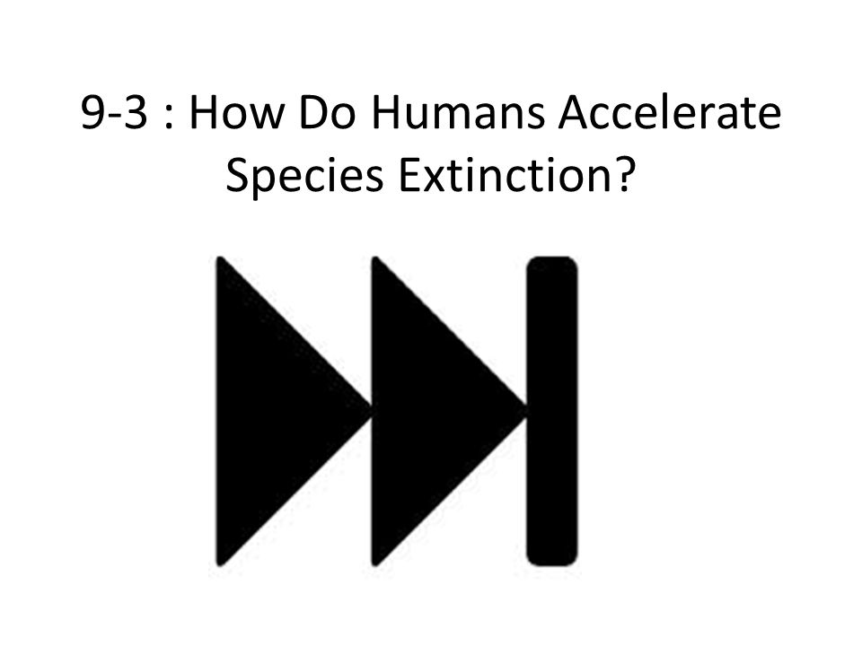 9-3 : How Do Humans Accelerate Species Extinction?