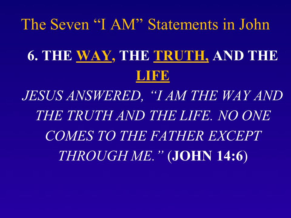 The Seven I AM Statements in John 6.