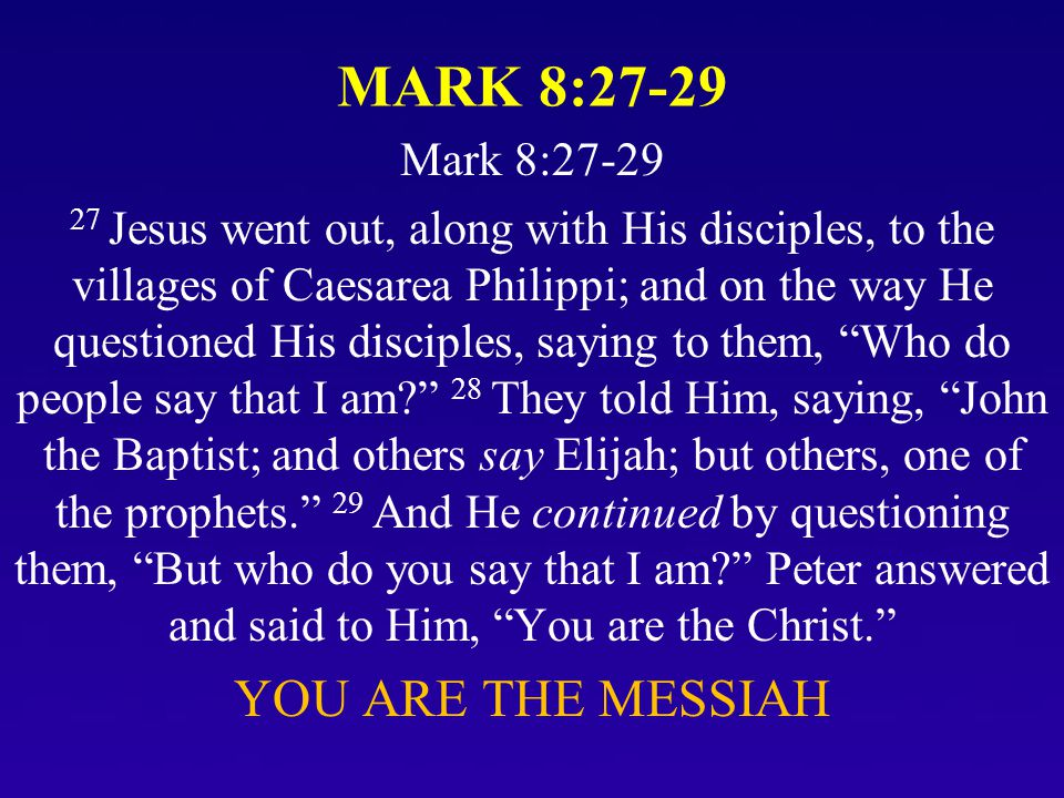 Some Popular Answers to Jesus' Identity Question 1.