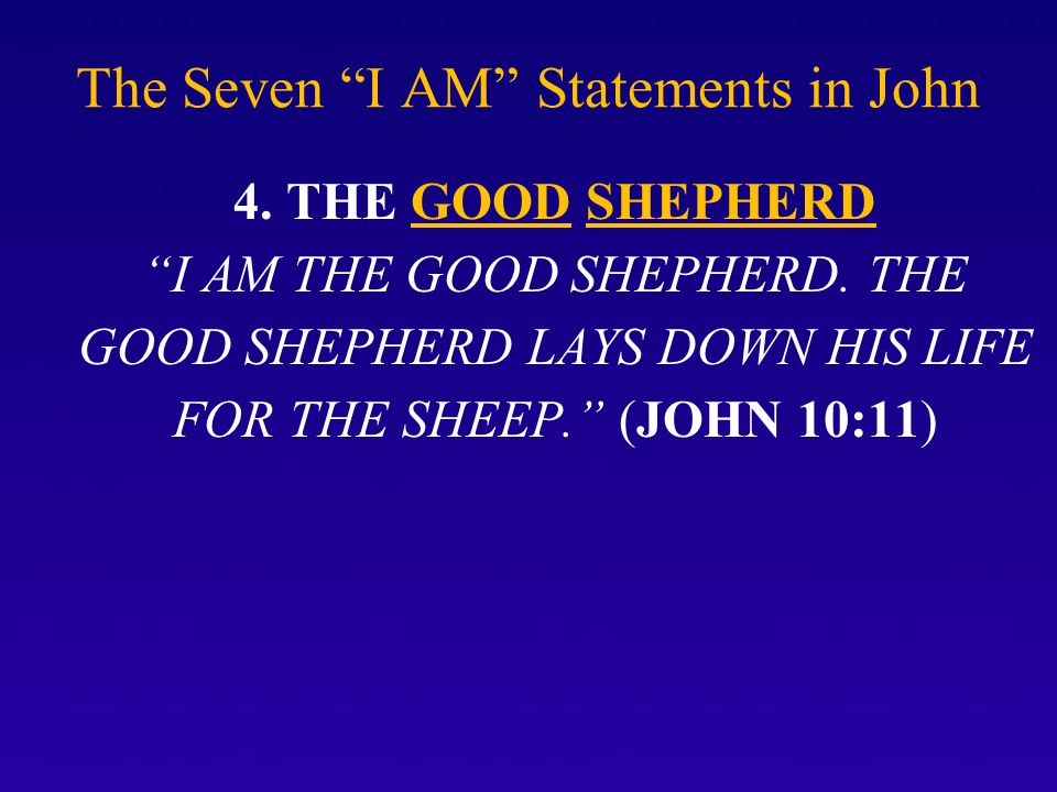 The Seven I AM Statements in John 5.