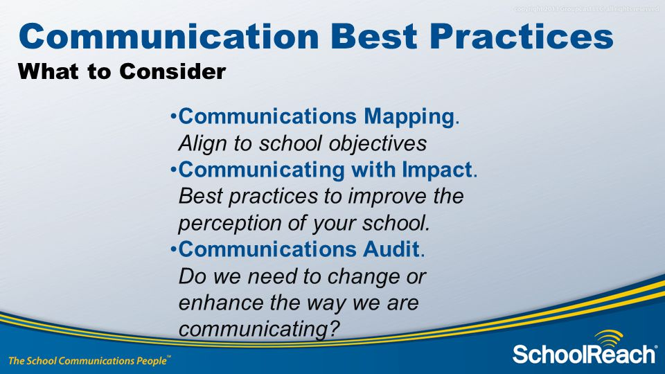 Communication Best Practices What to Consider Communications Mapping.