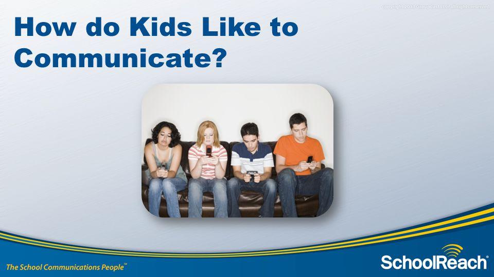 How do Kids Like to Communicate?