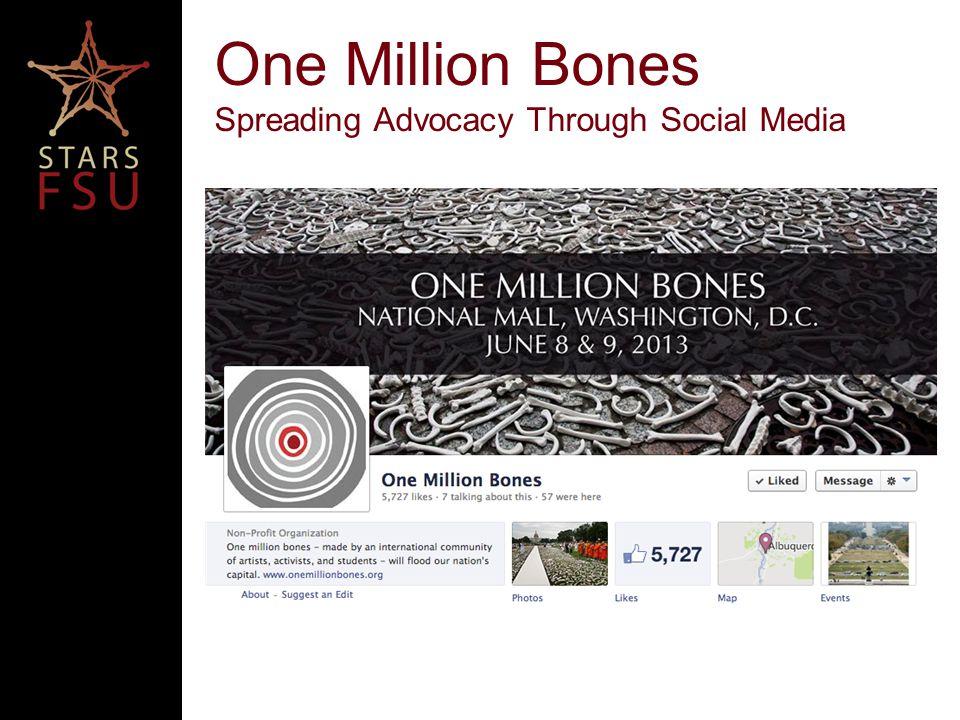 One Million Bones Spreading Advocacy Through Social Media