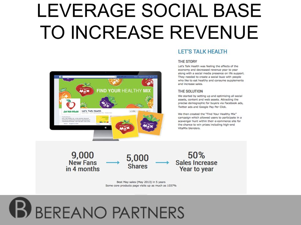 LEVERAGE SOCIAL BASE TO INCREASE REVENUE ON-SITE