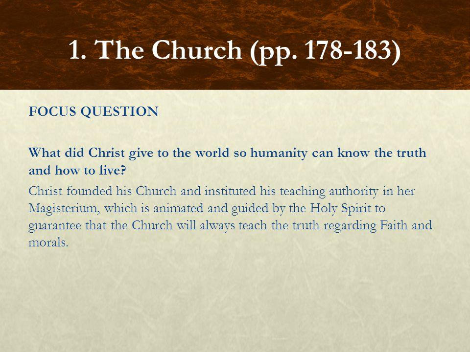 FOCUS QUESTIONS What is a conclave.A conclave is a papal election.