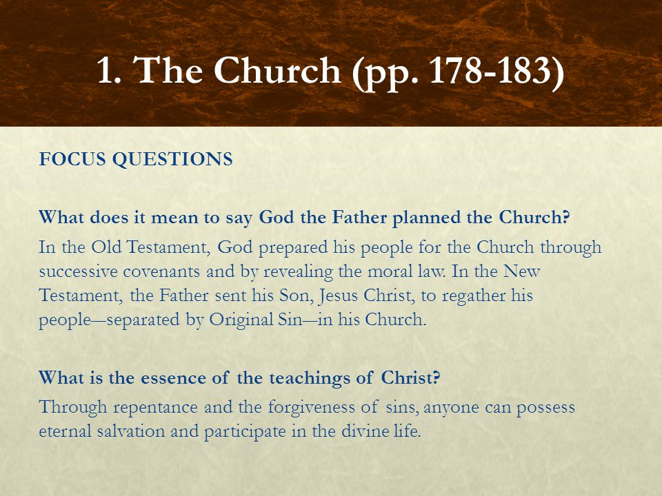 FOCUS QUESTION Why is Mother and Teacher an appropriate phrase to describe the Church.