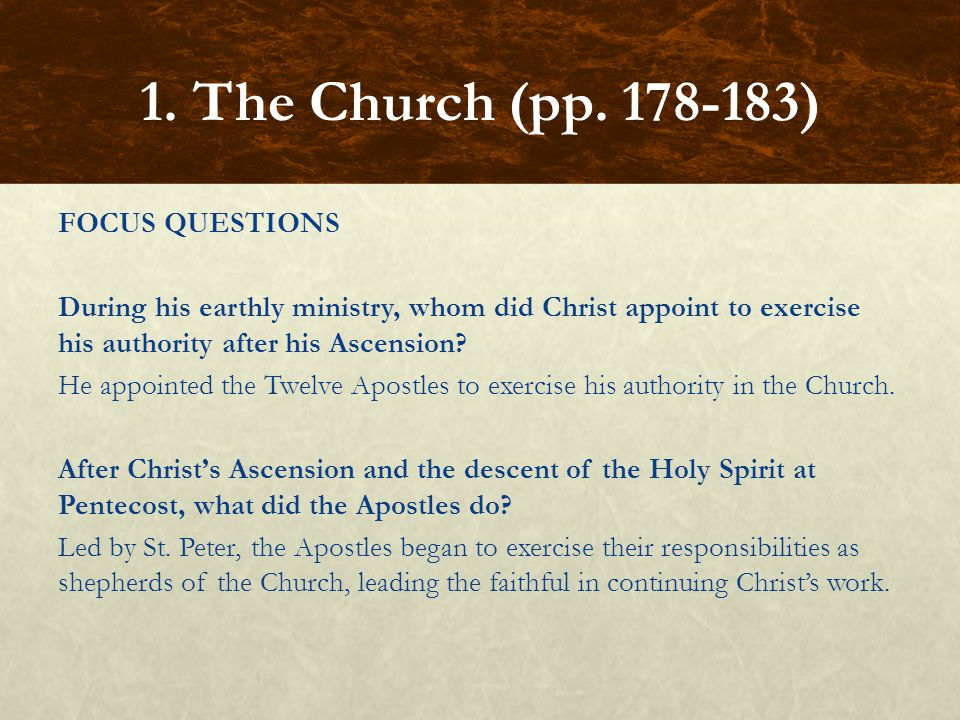 FOCUS QUESTIONS In what sense is the Church the Family of God.