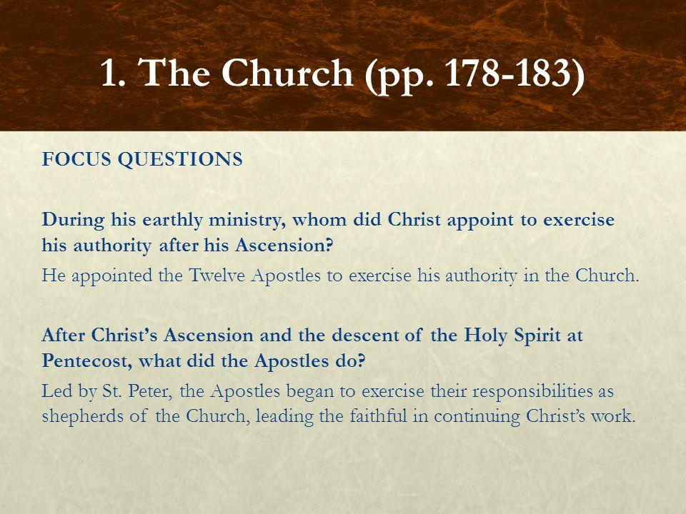 FOCUS QUESTIONS In what sense does the Church teach.
