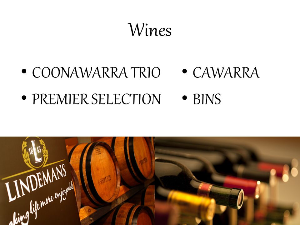 Wines COONAWARRA TRIO PREMIER SELECTION CAWARRA BINS