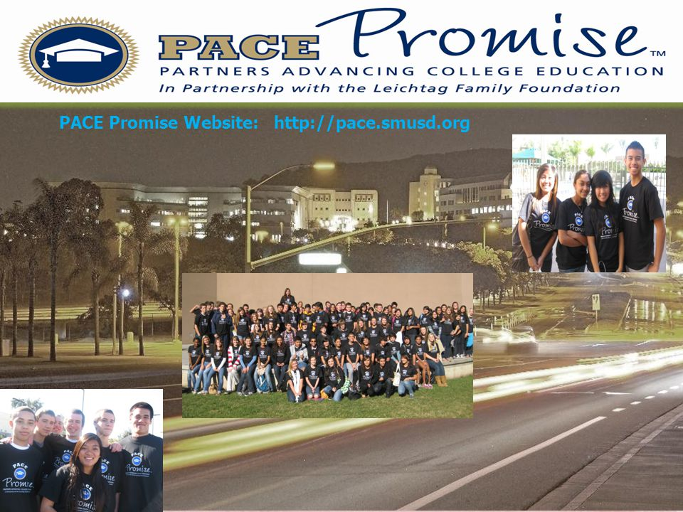 PACE Promise Website: http://pace.smusd.org