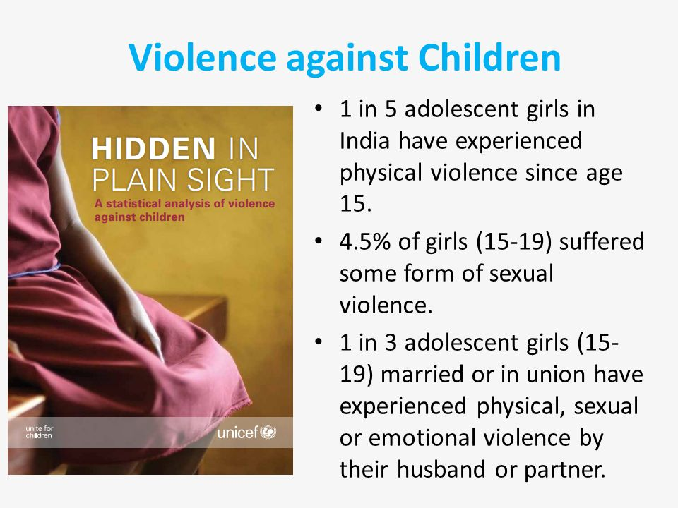 1 in 5 adolescent girls in India have experienced physical violence since age 15.