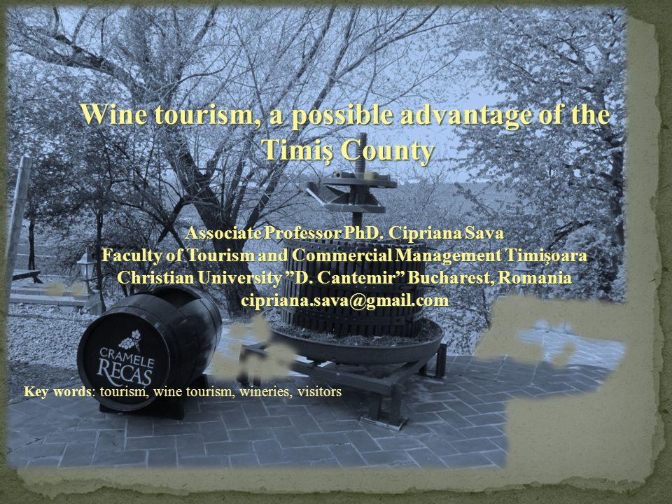 Wine tourism, a possible advantage of the Timiş County Timiş County Associate Professor PhD.