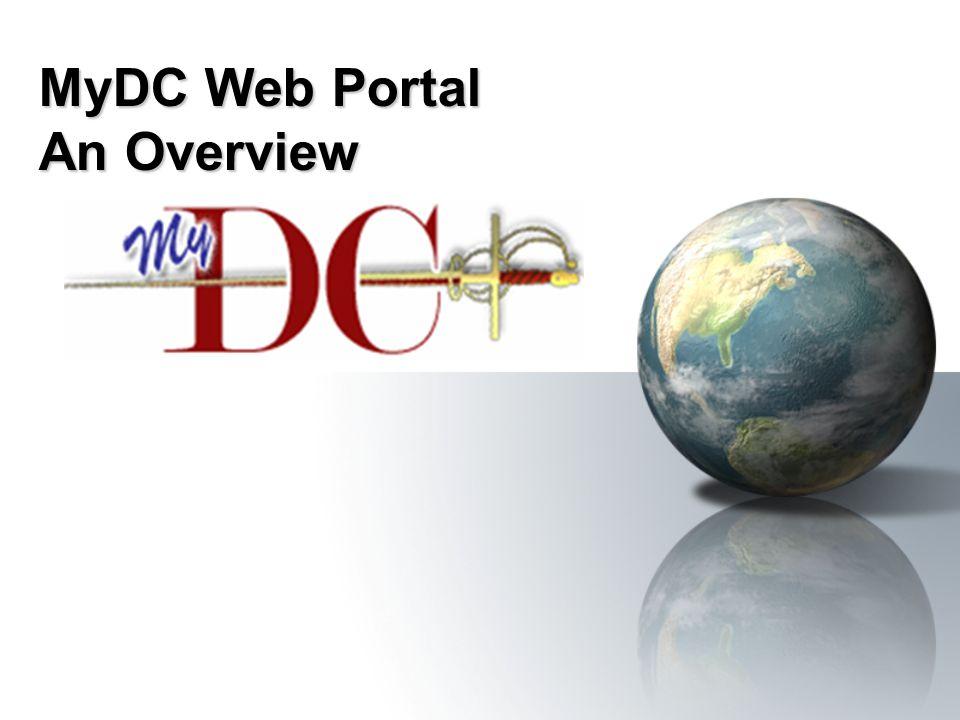 MyDC Web Portal An Overview