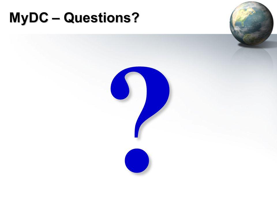 MyDC – Questions