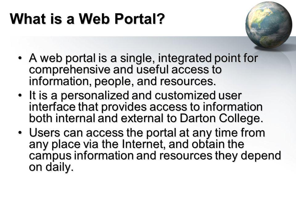 What is a Web Portal.