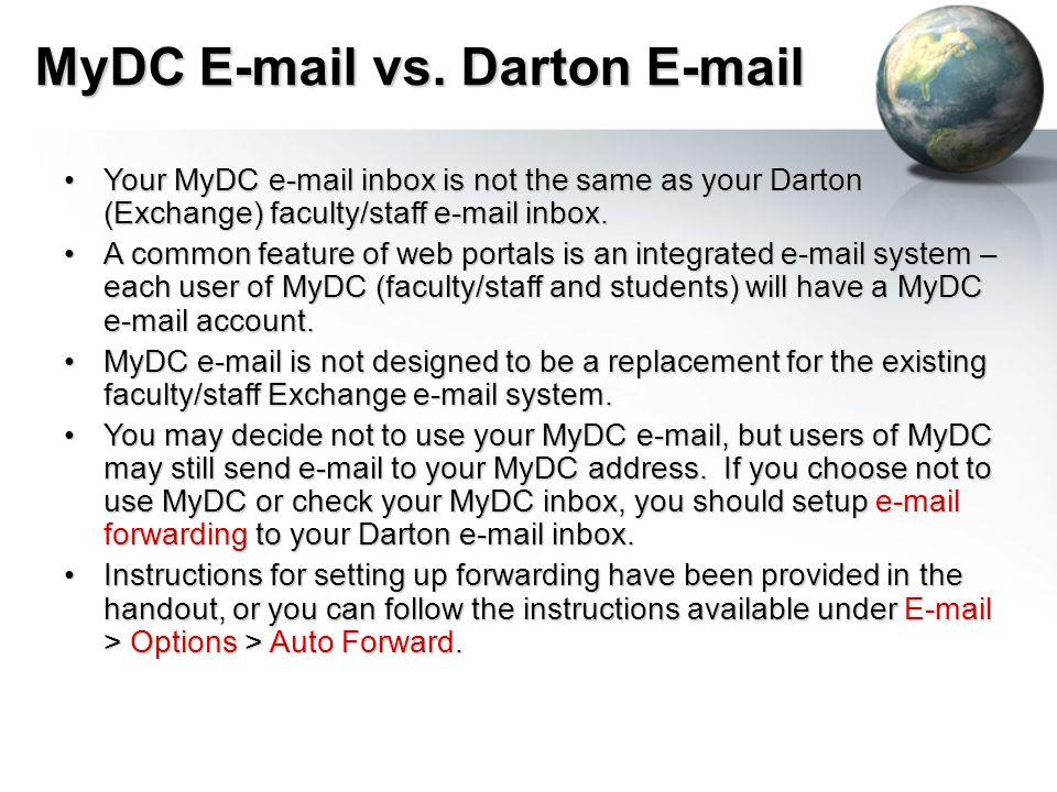 MyDC E-mail vs.