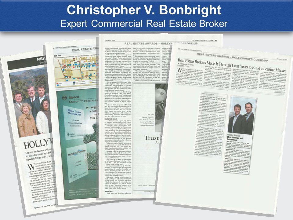 Christopher V. Bonbright Expert Commercial Real Estate Broker