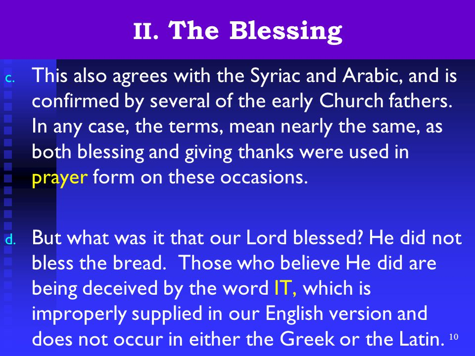 10 II. The Blessing c.