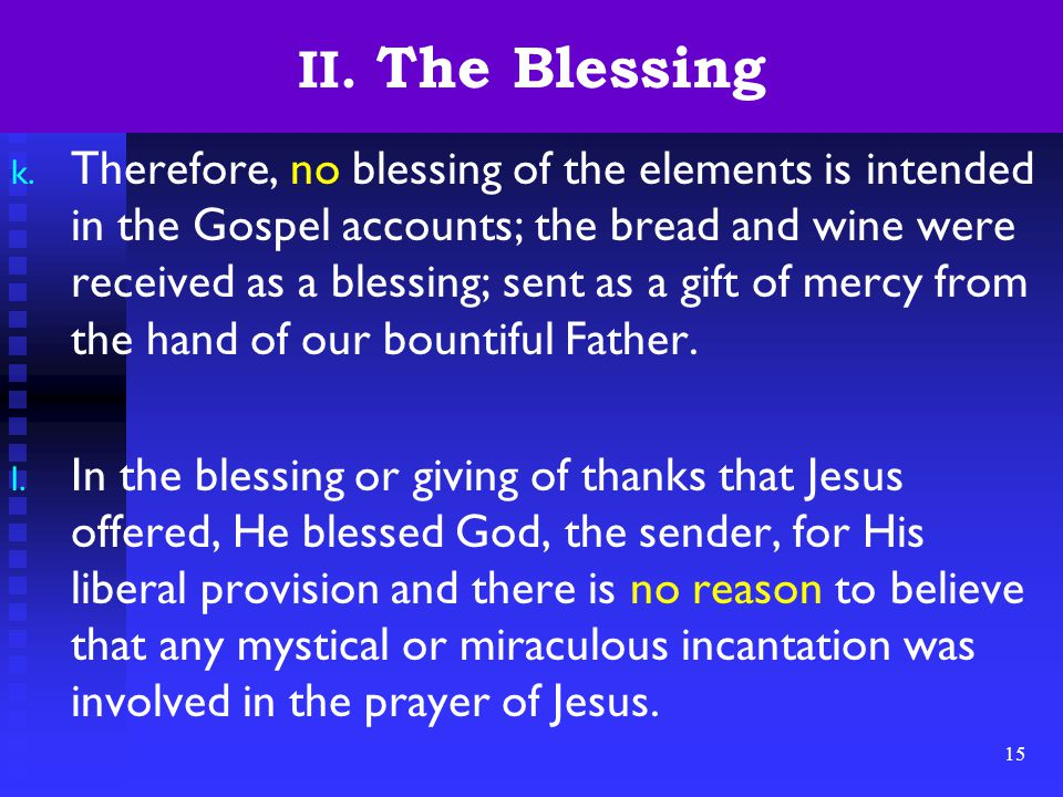 15 II. The Blessing k.
