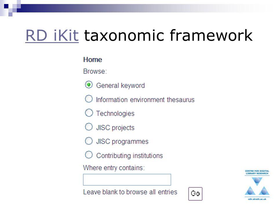 RD iKitRD iKit taxonomic framework
