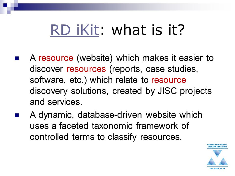 RD iKitRD iKit: what is it.
