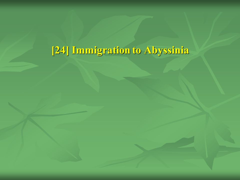 [24] Immigration to Abyssinia