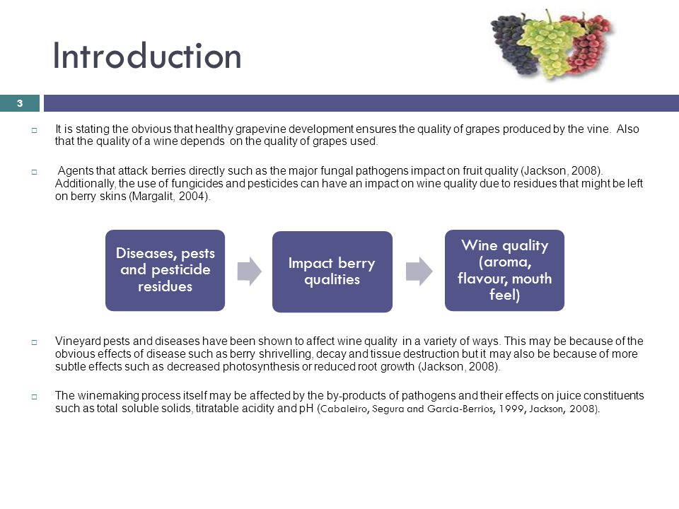 Introduction  It is stating the obvious that healthy grapevine development ensures the quality of grapes produced by the vine.