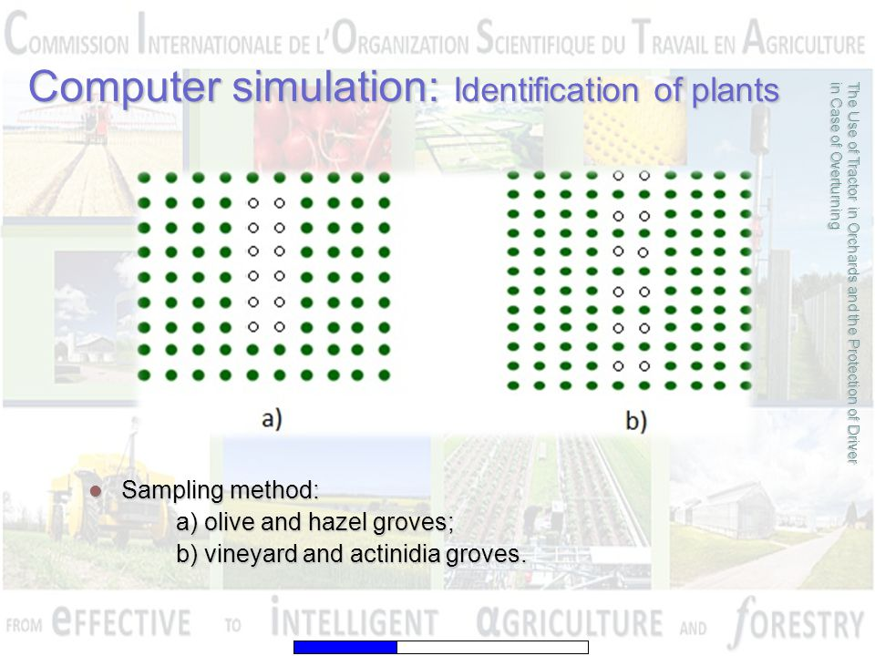 The Use of Tractor in Orchards and the Protection of Driver in Case of Overturning Computer simulation: Identification of plants Sampling method: Samp