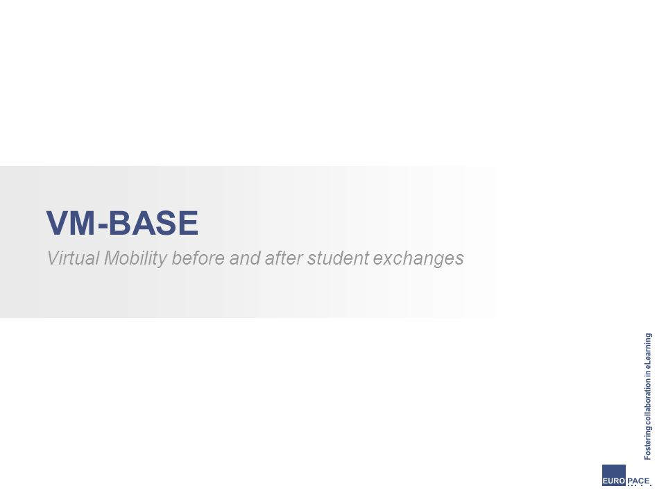 VM-BASE Virtual Mobility before and after student exchanges