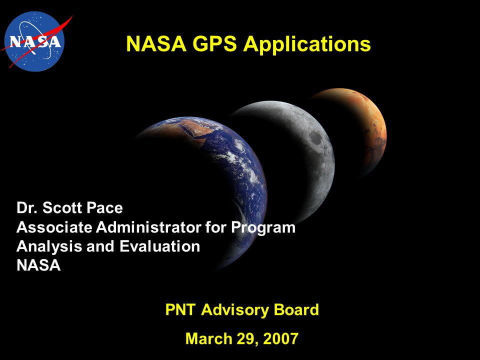 NASA GPS Applications Dr.