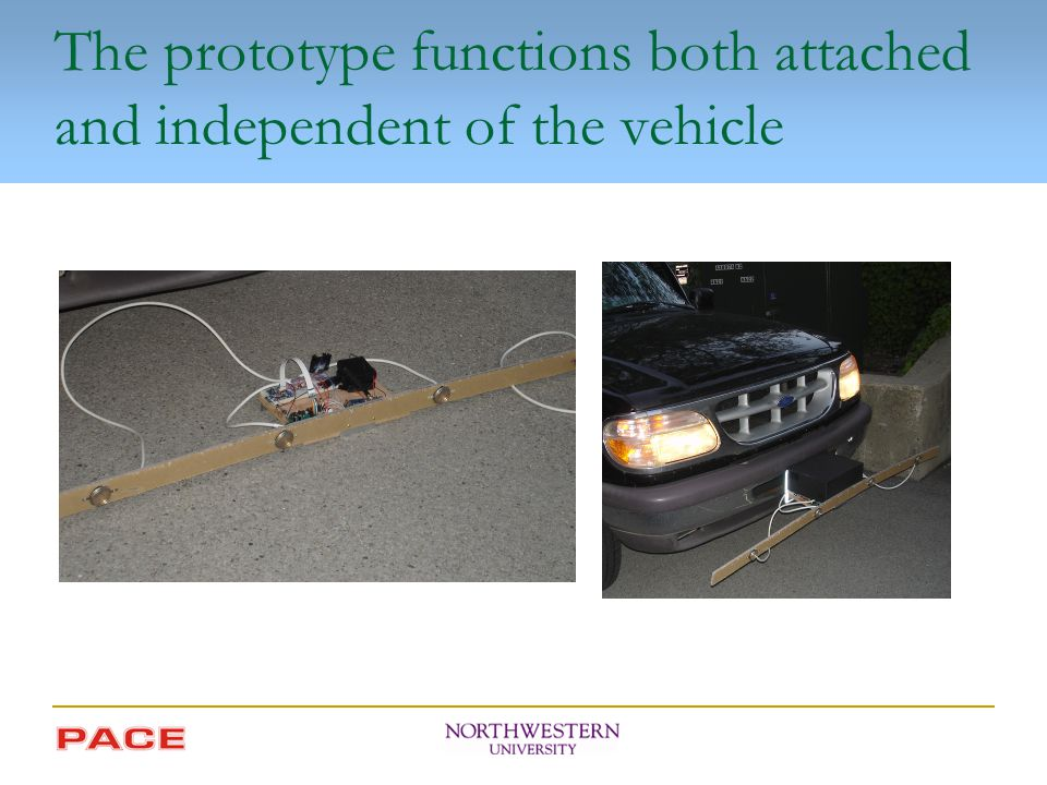 The prototype functions both attached and independent of the vehicle