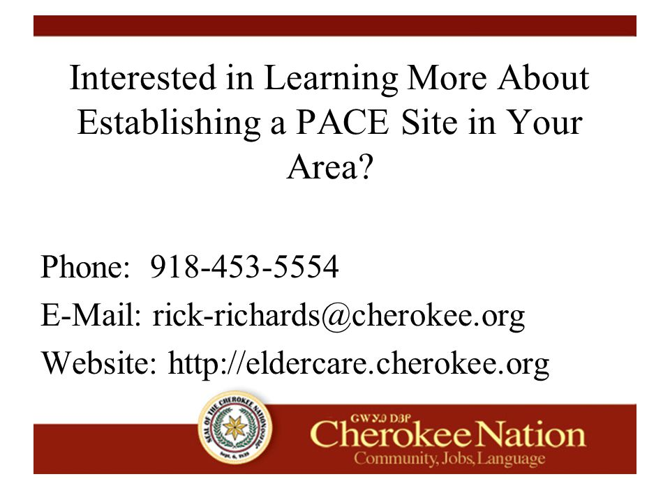 Interested in Learning More About Establishing a PACE Site in Your Area.