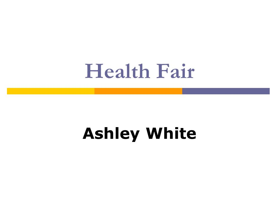 Health Fair Ashley White