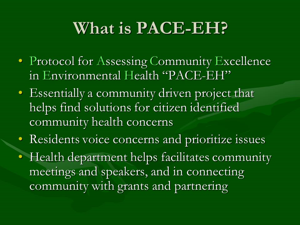 What is PACE-EH.