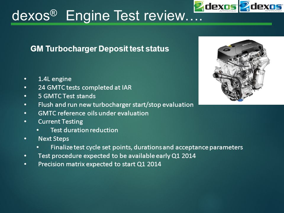 dexos ® Engine Test review….