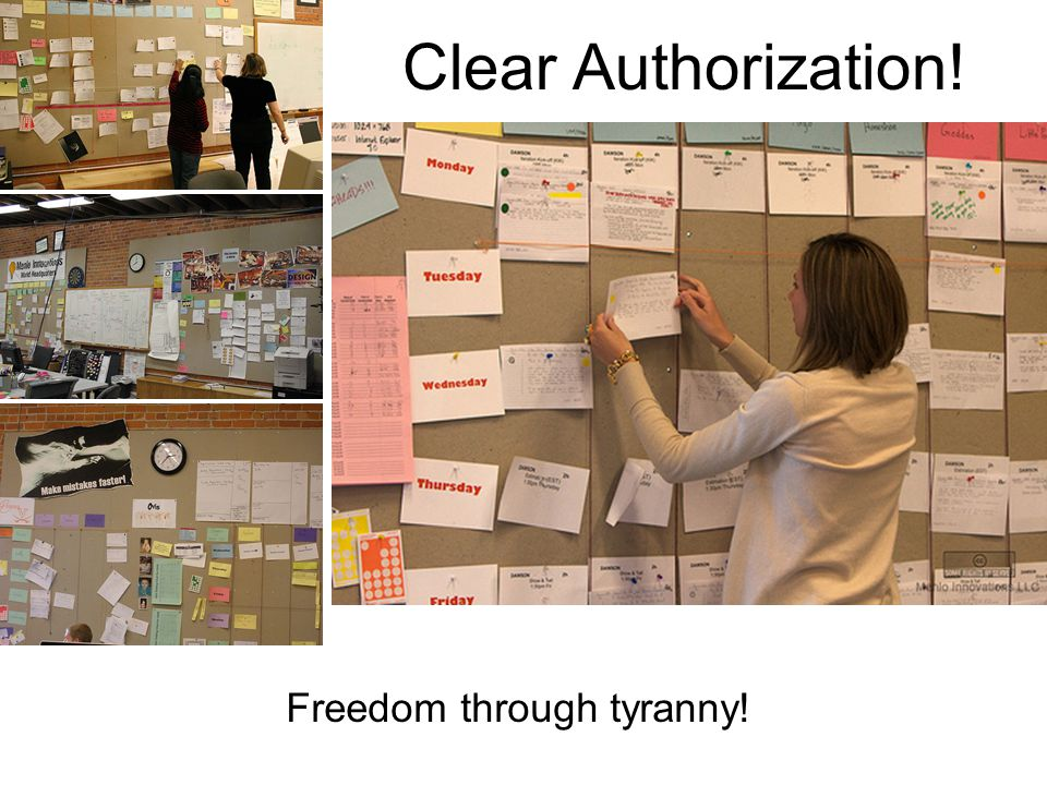 Clear Authorization! Freedom through tyranny!