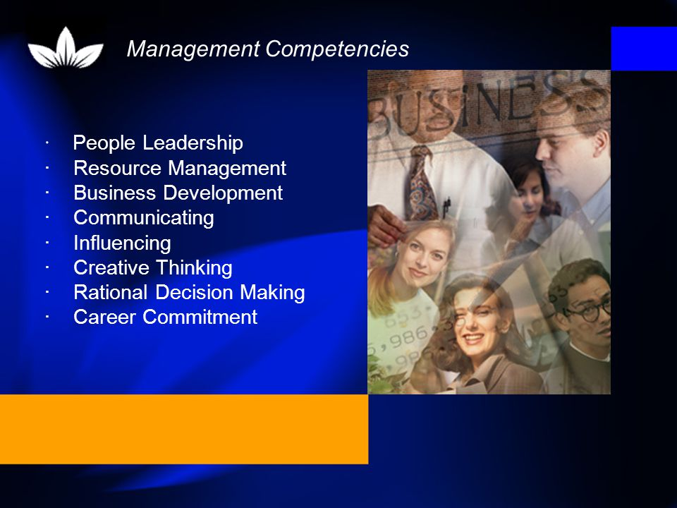 Competencies are skills, knowledge and behaviours which underpin effective managerial performance.