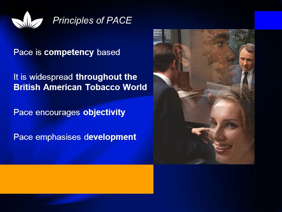 PACE is a key management process for reviewing the past and planning the future.