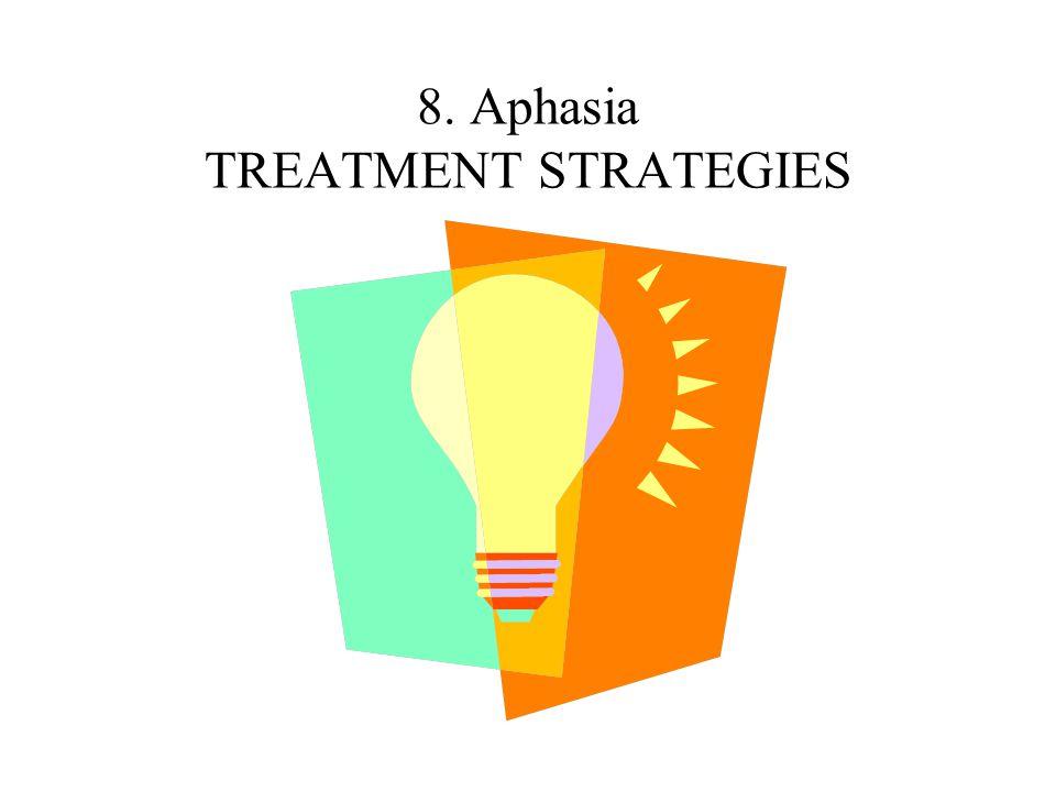 8. Aphasia TREATMENT STRATEGIES