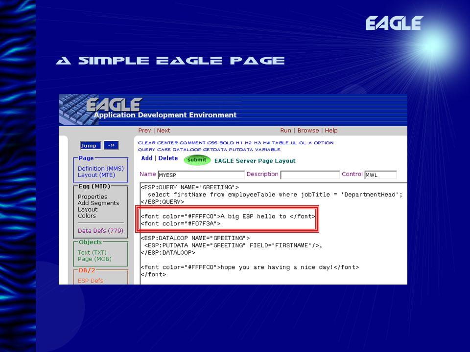 A simple EAGLE page EAGLE