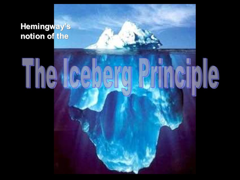 Let only the tip of the iceberg show— the right details will evoke the great mass of what lies beneath.
