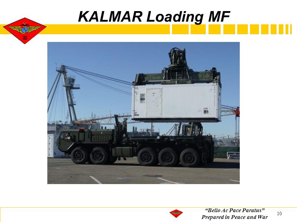 """Bello Ac Pace Paratus"" Prepared in Peace and War KALMAR Loading MF 10"