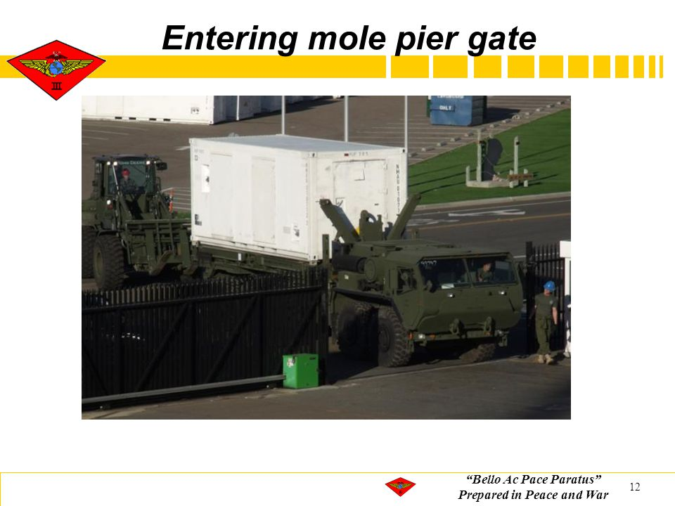 """Bello Ac Pace Paratus"" Prepared in Peace and War Entering mole pier gate 12"
