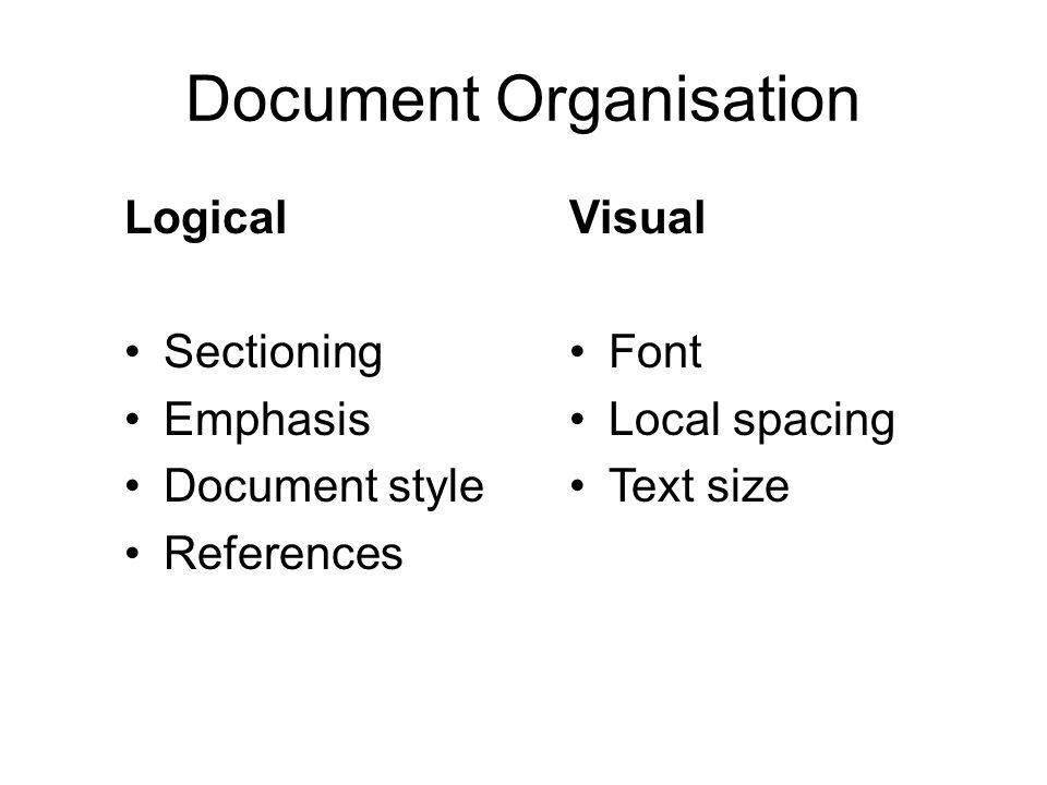 The Simplest Document \documentclass{report} \begin{document} \end{document}