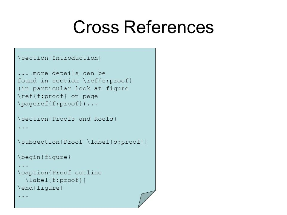 Cross References \section{Introduction}...
