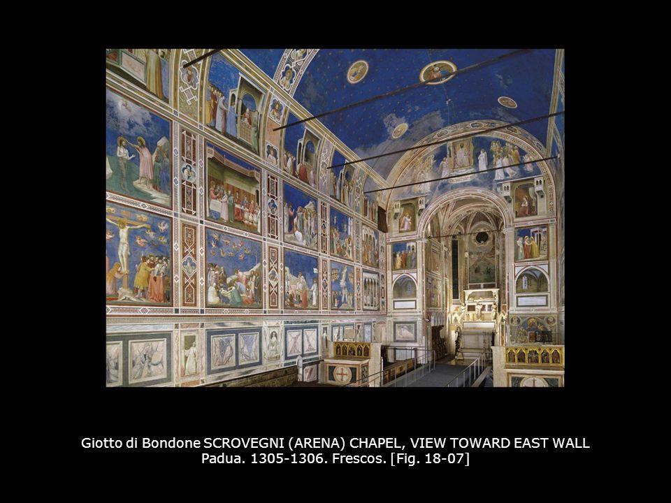 Giotto di Bondone SCROVEGNI (ARENA) CHAPEL, VIEW TOWARD EAST WALL Padua.