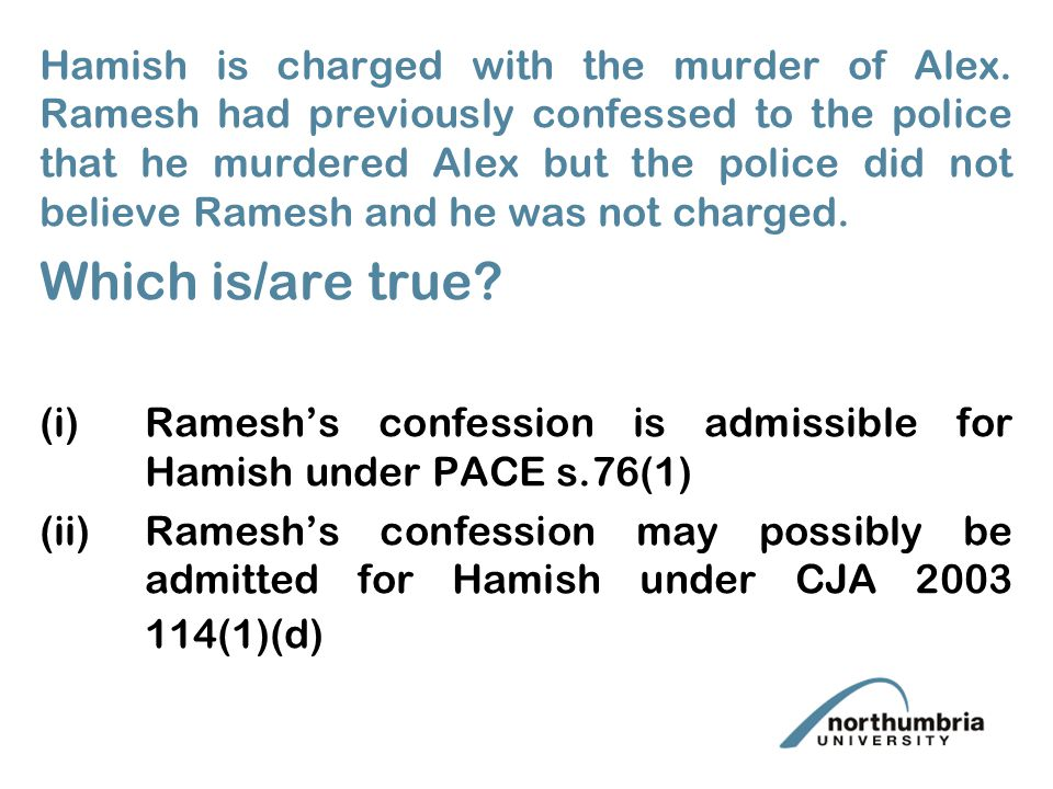 i Hamish is charged with the murder of Alex.