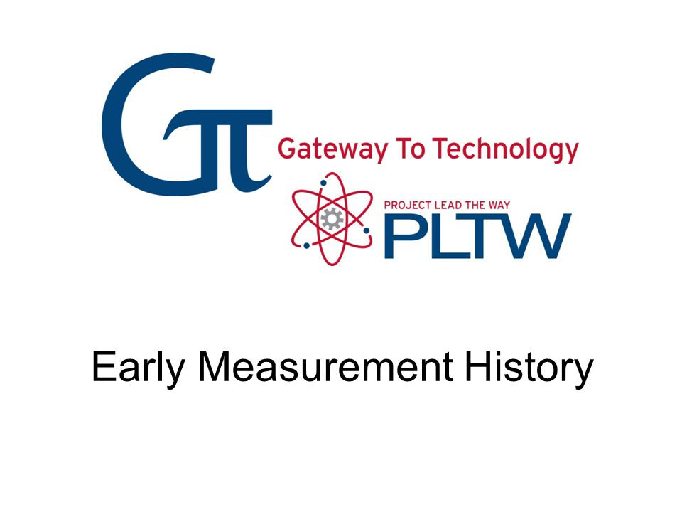 Early Measurement History