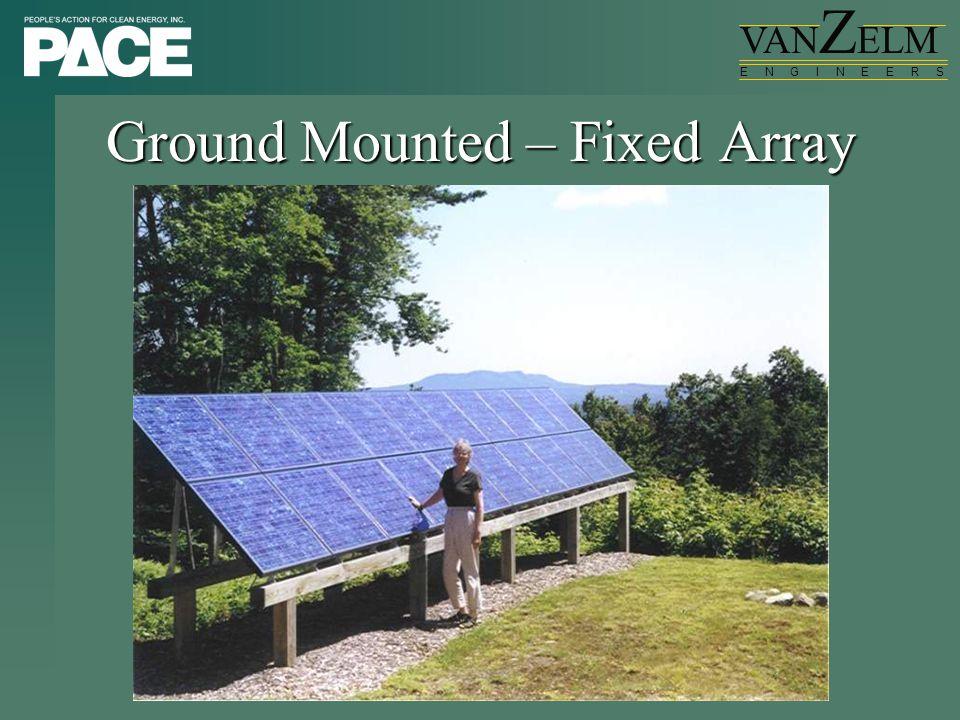 VAN Z ELM E N G I N E E R S Ground Mounted – Fixed Array